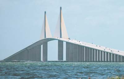 Views of the Sunshine Skyway Bridge can be enjoyed from a distance.